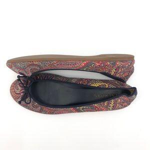 Talbots Jilly Paisley Ballet Flats Size 7.5